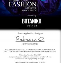 Ana Gambino & S. Florida Fashion Week