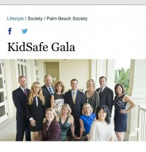 Ana Gambino at the Sun Sentinel Cover- KidSafe Gala
