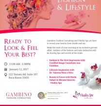 Event: Beauty, Fashion & Lifestyle at Vitality Spa - Keynote Speaker: Ana Gambino