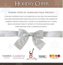 Event: Holiday & Shopping at Jasmin Boutique - Keynote Speaker: Ana Gambino