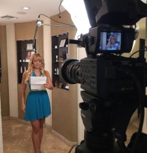 Ana Gambino filming a TV Commercial for Rejuvchip's Creator Dr. Jabal Uffelman, M.D. at Transform Womans Care - Fort Lauderdale, FL